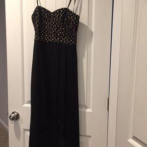 BCBG high low strapless dress